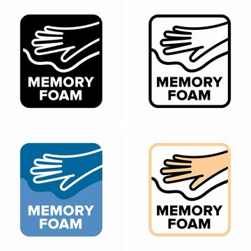 Memory foam, viscoelastic polyurethane cells