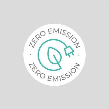 Zero emission vector icon