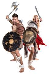 gladiator/Ancient warrior couple
