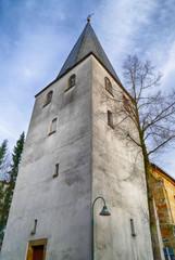Historischer Turm einer Kirche in Lingen