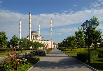 Wall Murals Nasa Akhmad Kadyrov Mosque (also known as