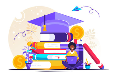 Student loans vector illustration