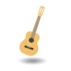 Acoustic guitar picture on a white background