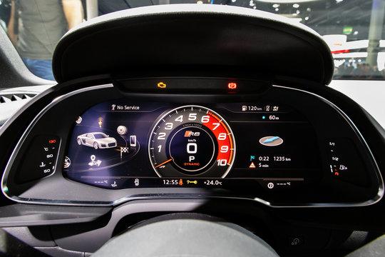 Dashboard of the Ausi R8 sports car