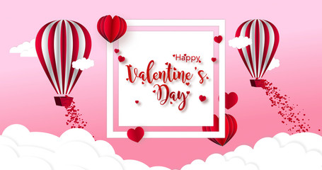 3D Rendering a Valentine's day Romantic greeting card. Declaration of Love and Care. Lovers holiday concept Vday.