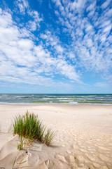 Tuinposter Kust Beautiful summer landscape of sea coast and dunes