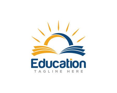 Education and Graduation Logo Design Vector