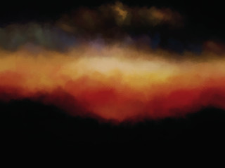 Canvas Texture Abstract Fire Sky Landscape