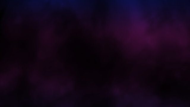 Abstract multicolor fog and smoke on black color background.