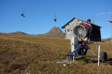 Herbstlandschaft im Skigebiet