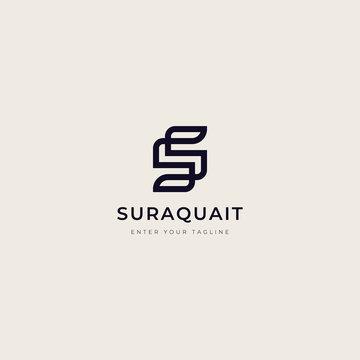 letter S monogram logo with a unique design