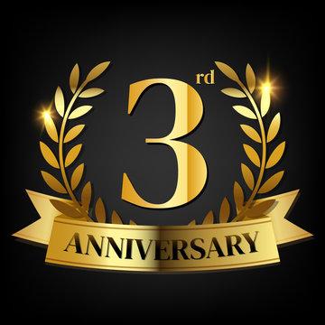 3rd golden anniversary logo
