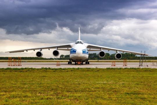 Volga-Dnepr Airlines Antonov An-124-100 airplane Leipzig Halle airport