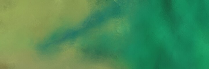 aged horizontal header background  with sea green, gray gray and dim gray color Fototapete