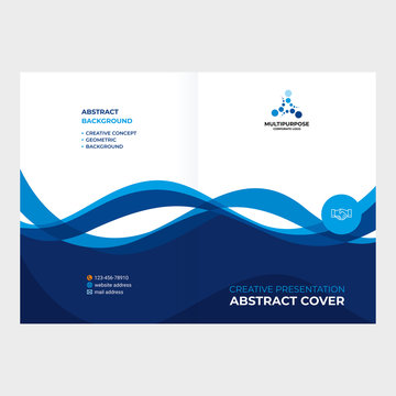 Cover design, abstract smooth lines made of waves.