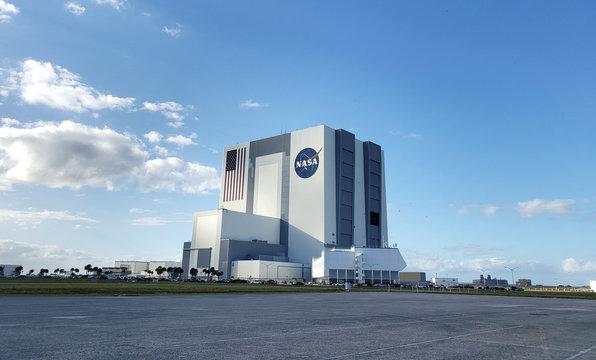 NASA space center building in Cape Canaveral, Florida