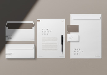 Business Cards and Stationary Mockup