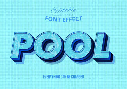Pool text, editable text effect