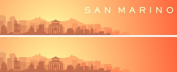 San Marino Beautiful Skyline Scenery Banner Wall mural