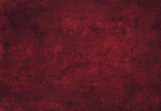 Watercolor dark red texture background hand painted. Watercolour deep maroon color backdrop.