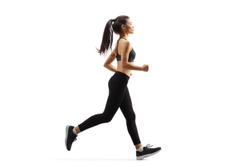 Fototapeta Young woman jogging obraz