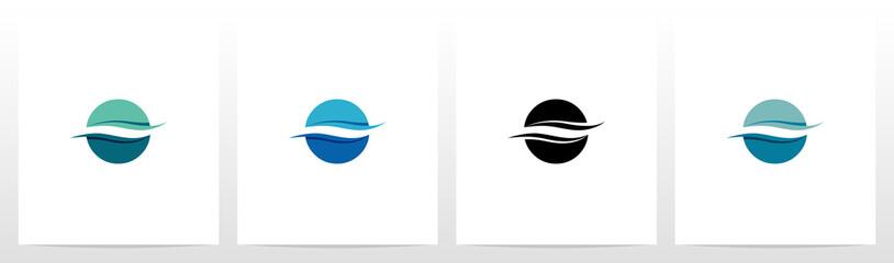 Water Wave On Letter Logo Design O