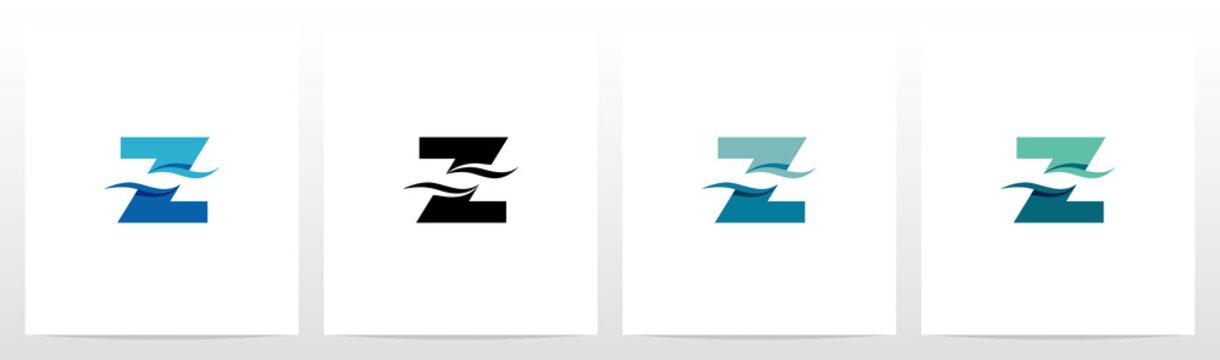 Water Wave On Letter Logo Design Z