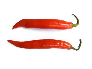Aluminium Prints Hot chili peppers Chili pepper isolated on a white background with clipping path. Hot red chili pepper on white background.
