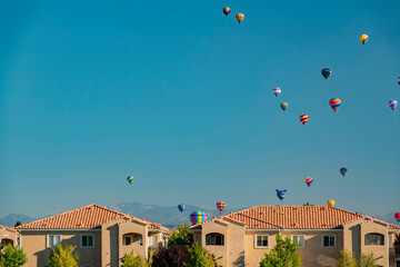 Morning view of the famous Albuquerque International Balloon Fiesta event