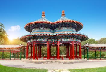 Shuanghuan Pavilion in Tiantan Park