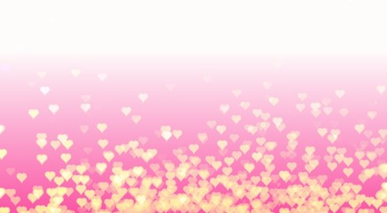 Love, Valentine day and bokeh of heart background design. Illustration concept of positive mental states of humanity. For your celebrating of love, wedding, celebration, anniversary, or Xmas time.
