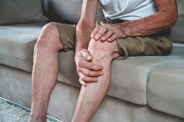 Pain in the legs and knees of an elderly seniorv