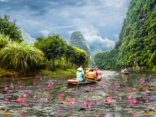 Wall Mural - Trang An Landscape Complex, located within Ninh Binh Province of North Vietnam