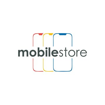Mobile Store Logo Simple and Business