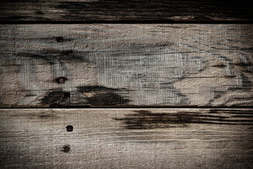 old wood barn dark wall texture background, timber plank wooden pallet weathered with nail tack