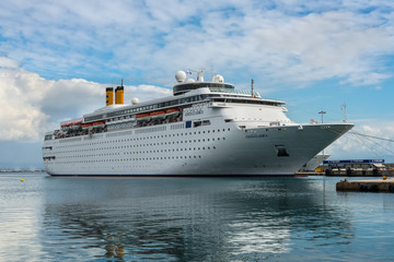 Katakolon, Greece - October 31, 2017: Costa neoClassica Cruise Ship moored in the port of the Katakolon (Olimpia), Greece.