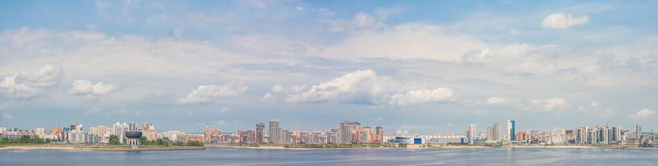 Panorama of the banks of the Kazanka River in Kazan