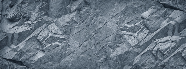 Poster Stenen Gray grunge banner. Abstract stone background. The texture of the stone wall. Close-up. Light gray rock backdrop.
