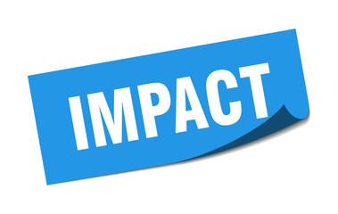 impact sticker. impact square sign. impact. peeler