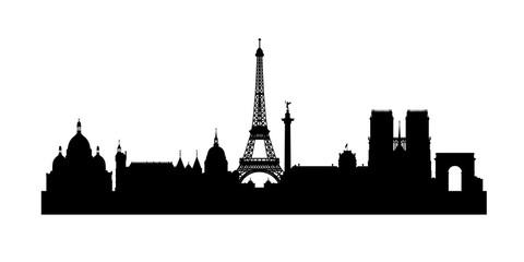 Paris Skyline Cityscape Eiffel Tower