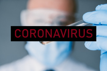 Coronavirus Blood test laboratory analysis microbiology research liquid