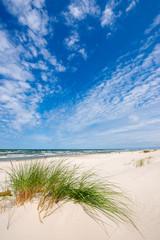 Beautiful summer landscape of sea coast and dunes