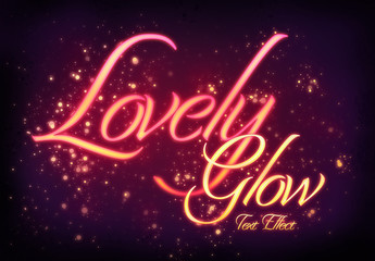 Lovely Golden Glow Text Style Mockup