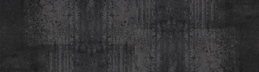 Foto auf Leinwand Steine black stone concrete texture background anthracite panorama banner long