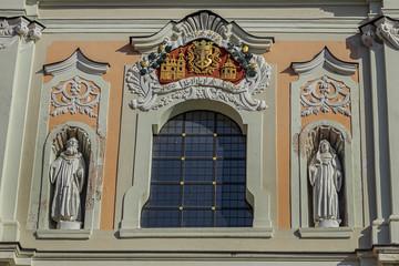 Roman Catholic Church of St. Catherine (Sv. Kotrynos baznycia) in Vilnius' Old Town. St. Catherine's Church is the church of the former Vilnius' Benedictine monastery. Vilnius, Lithuania.