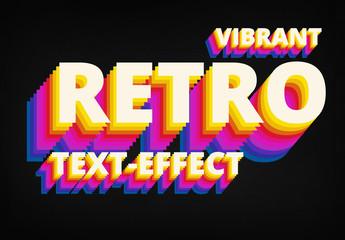 Retro Vibrant 8 Bit Text Style Mockup