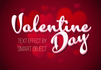 Valentine's Day 3D Text Effect Mockup