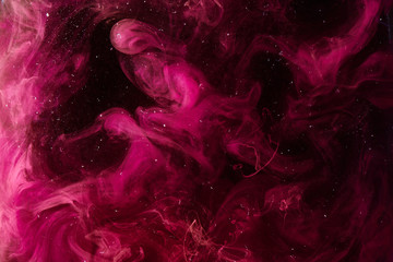 Pink universe abstract background, swirling galaxy smoke, alchemy dance of love and passion. Mysterious esoteric outer space, exoplanet sky