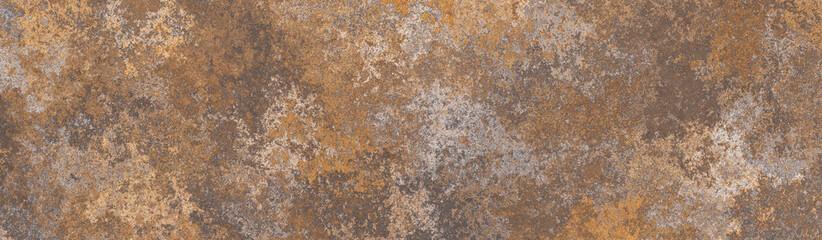 Fotobehang - Rusty brown metal background.Steel oxidizing texture.Damaged old metal surface.