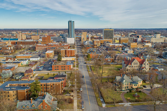 South Bend Indiana Aerial View